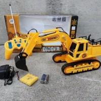 Mainan rc truck alat berat mobil remote control excavator truk digger
