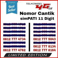 Jual Perdana Simpati 11 Digit TRIPLE 777 / Nomor Cantik Telkomsel 4G LTE Murah