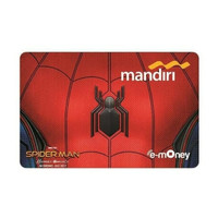 Mandiri e-Money eMoney eToll e-Toll card Mandiri Spiderman Logo / Suit