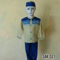 Soleh Baju Anak Muslim Lengan Pendek Baju Koko Anak Laki - laki SAK