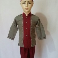 Soleh Baju Setelan Muslim Anak Laki - laki Baju Koko Lengan Pendek SAK