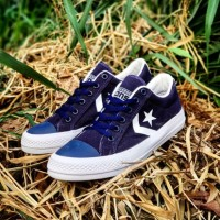 TERBATAS CONVERSE STAR PLAYER OX NAVY SNEAKERS CASUAL RUNNING SEPATU