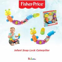Fisher Price 6 Activity Beads Infant Snap Lock Caterpillar-Mainan Anak