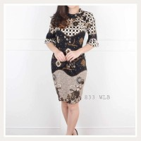 dress tunik batik wanita modern bagus modis DRESS ATASAN BLOUSE BAJU