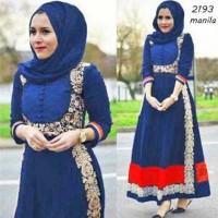 kr Manilla BCA  xl gamis syari hijab baju muslim wanita MEVZ20