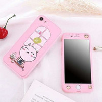 360 Hard Case Pinky Animation Full Cover Case Casing HP Oppo A37/Neo 9