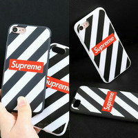 Softcase TPU Supreme Black White Keren Cover Case Casing HP Oppo A71