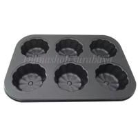 Jual Loyang Teflon Pan Cupcake Dan Muffin Plum 6 Lubang - Hitam Murah