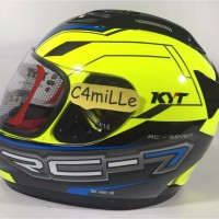 Promo HELM KYT RC7 RC 7 14 YELLOW FLUO FULL FACE
