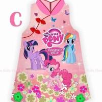 Dress Anak Cewek Shanghai Imlek Poni Pink Import
