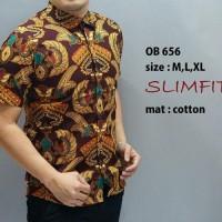 Baju Imlek Pria Slim Fit / Kemeja Batik Edisi Imlek Ob 637