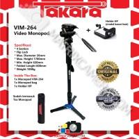 Takara VIM-264 Fluid Head Video Monopod + HP Holder