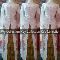 BAJU MUSLIM Abaya Set Kebaya Abaya Akad Nikah Muslim RVy Collection