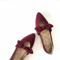 Sepatu Sandal Wanita Flat Shoes Pita Merah TERMURAH Limited d5d53f81f6