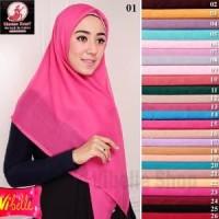 Hijab Jilbab Kerudung Segi empat Paris Umama Warna Polo Limited