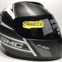 HELM FULL FACE BMC BLADE 200 #5 WHITE BLACK DOP