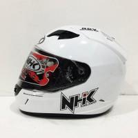 HELM NHK GP1000 GP 1000 SOLID WHITE PUTIH DOUBLE VISOR FULL FACE