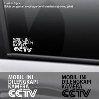 Harga Stiker Pengaman Mobil Dilengkapi CCTV Kaca Body Cutting Sticker Safety | WIKIPRICE INDONESIA