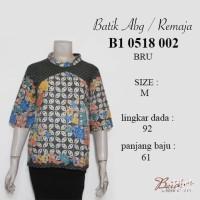 Blus batik remaja B10518002BRU baju batik anak / grosir batik murah