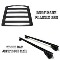 Paket Cross bar jepit roof rail dan roof rack mobil Wagon R