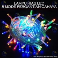 100LP 6M Lampu hias natal dekorasi LED 5 jalur switch 8 macam