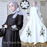 Gamis hitam putih maxi maxy dress baju long muslimah pesta seragam