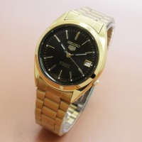 TERLARIS Seiko 5 Automatic 21 Jewels Jam Tangan Wanita Gold Black