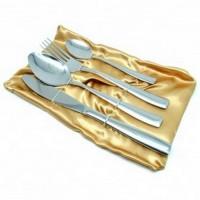 Set Perlengkapan Makan Sendok Garpu Pisau Stainless Steel - Silver