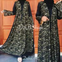 Jual Abaya / Gamis Dress Dubai 097 Bahan Maxmara Murah