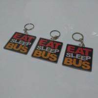 Gantungan Kunci Eat Sleep Bus