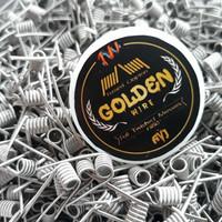 golden wire Ful TM. liquit. vape. batre.rda. kapas. coil master.