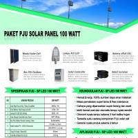 Paket PJU Solar Panel 100 Watt LED