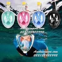 Masker Selam Full Face Mask Snorkel Diving Underwater Snorkeling Mask