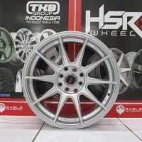 Velg Mobil Jari Jari Ring 16 HSR XXR Lebar Celong 7/8 Hole 4 Silver