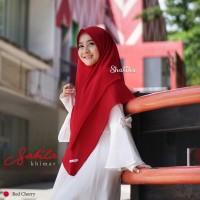 Sabila Khimar in Red Cherry
