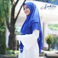 Sabila Khimar in Cobalt Blue
