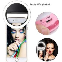 RING LIGHT SELFIE LED ( PUTIH ) / LAMPU SELFIE BULAT