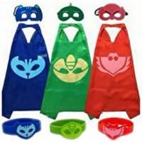 Jubah PJ Mask Set Lengkap Dapat Jubah+Topeng+Gelang