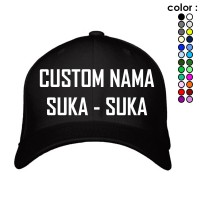 PROMO TNSCLOTHING BASEBALL CAPS  BORDIR NAMA / TULISAN SUKA - SUKA!!