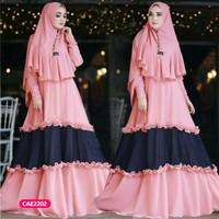 Gamis wanita muslim dress syari aurora