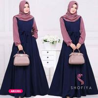 Gamis wanita muslim dress syari ales