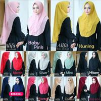Hijab jilbab bergo kerudung khimar scarf instan alifa