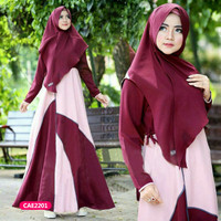 Gamis wanita muslim dress syari risma