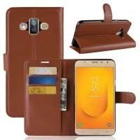 Samsung J7 Duo (2018) Flip Wallet Stand Holder PU Leather Case 1414