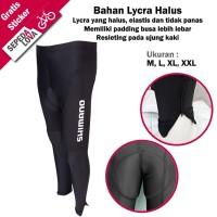 Celana Sepeda Panjang Full Ketat Shimano Lycra Padding Busa