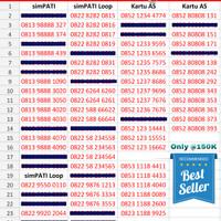Jual Kartu Perdana Nomor Cantik Telkomsel Murah ( Simpati, Kartu AS, Loop) Murah