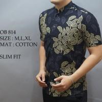 Baju Batik Cowok Lengan Pendek Kemeja Pria Kantoran Jaman Now Charmi