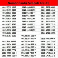 Jual Perdana Cantik Nomor Telkomsel Simpati 4G LTE Murah