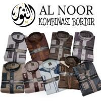 Jual Jubah Pria Ikhwan ALNOOR (Gamis Al Noor Premium Corak Kombinasi Murah) Murah