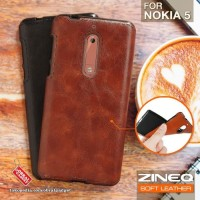 Softcase TPU PU Leather ZINEQ Ultra Slim Cover Case Casing HP Nokia 5
